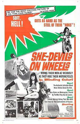 SHE-DEVILS ON WHEELS Movie POSTER 27x40 Betty Connell Nancy Lee Noble Christie