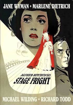 STAGE FRIGHT Movie POSTER 27x40 B Jane Wyman Marlene Dietrich Alastair Sim Sybil