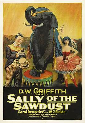 SALLY OF THE SAWDUST Movie POSTER 27x40 B W.C. Fields Carol Dempster Erville