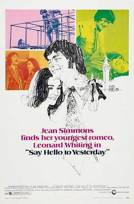 SAY HELLO TO YESTERDAY Movie POSTER 27x40 B Jean Simmons Leonard Whiting Evelyn