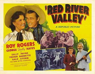 """RED RIVER VALLEY Movie POSTER 30x40 UK Roy Rogers George """"Gabby"""" Hayes Trevor"""