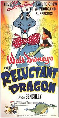 19e87d636d8cf RELUCTANT DRAGON Movie POSTER 14x36 Insert Robert Benchley Frances Gifford  Buddy