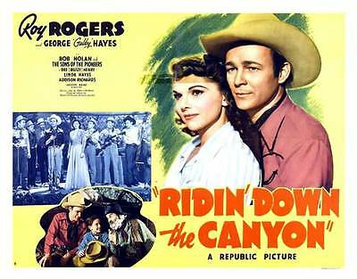 RIDIN' DOWN THE CANYON Movie POSTER 22x28 Half Sheet Roy Rogers George 'Gabby'