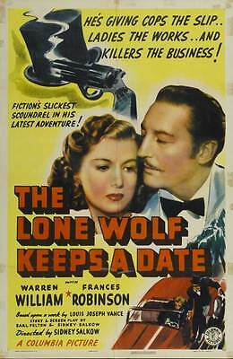 THE LONE WOLF KEEPS A DATE Movie POSTER 27x40