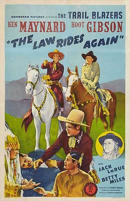 THE LAW RIDES AGAIN Movie POSTER 27x40