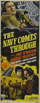 THE NAVY COMES THROUGH Movie POSTER 14x36 Insert