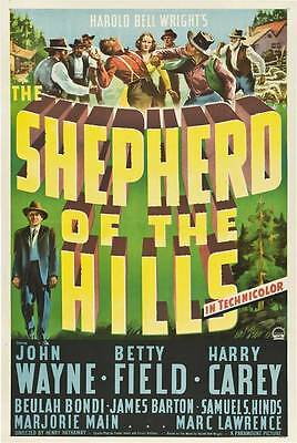 THE SHEPHERD OF THE HILLS Movie POSTER 27x40
