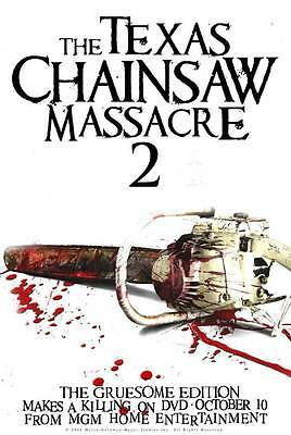 TEXAS CHAINSAW MASSACRE 2 Movie POSTER 27x40 C Dennis Hopper Caroline Williams