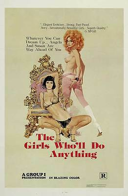 THE GIRLS WHO'LL DO ANYTHING Movie POSTER 27x40