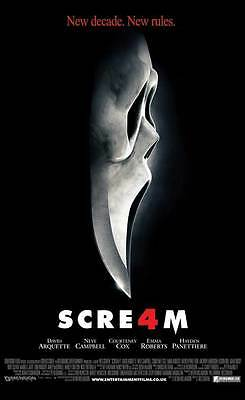 SCREAM 4 Movie POSTER 27x40 UK David Arquette Neve Campbell Courteney Cox Emma