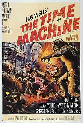 THE TIME MACHINE Movie POSTER 27x40 Rod Taylor Yvette Mimieux Whit Bissell
