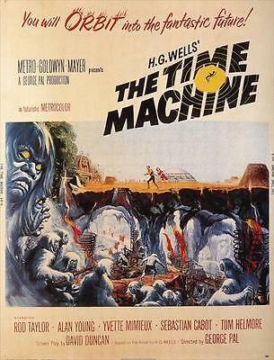 THE TIME MACHINE Movie POSTER 27x40 B Rod Taylor Yvette Mimieux Whit Bissell