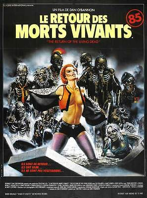 THE RETURN OF THE LIVING DEAD Movie POSTER 27x40 French Clu Gulager James Karen