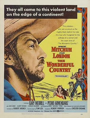 THE WONDERFUL COUNTRY Movie POSTER 27x40 B Robert Mitchum Julie London Gary