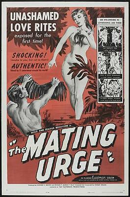 THE MATING URGE Movie POSTER 27x40 B