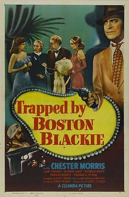 TRAPPED BY BOSTON BLACKIE Movie POSTER 27x40
