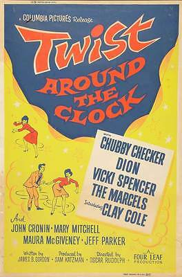 TWIST AROUND THE CLOCK Movie POSTER 27x40 B Chubby Checker Dion DiMucci Vicki