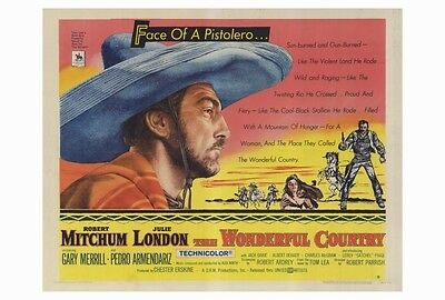 THE WONDERFUL COUNTRY Movie POSTER 27x40 Robert Mitchum Julie London Gary Merril