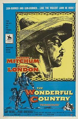 THE WONDERFUL COUNTRY Movie POSTER 27x40 C Robert Mitchum Julie London Gary