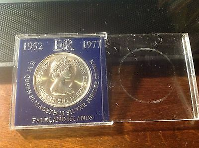 Falkland Islands Fifty Pence 1952-1977 Large Coin In Original Holder