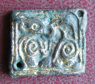 Authentic Ancient Artifact >Viking Bronze-Gilt Ringerike Dragon Mount VK 64