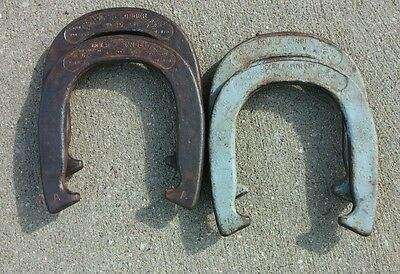 4 Vintage Horseshoes DOUBLE RINGER 2-1/2 Lbs Forged - Diamond Duluth