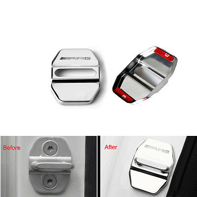 1X Car Door Lock Ring Protective Buckle Cover Trim For AMG A B C E M S GLK Class