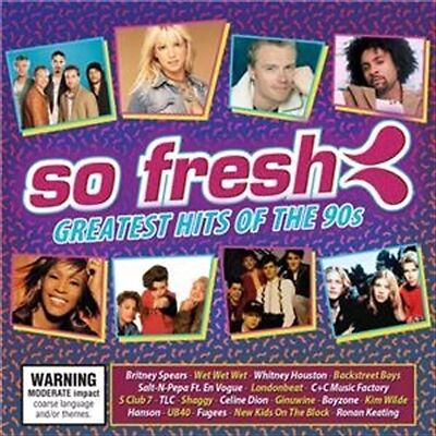 So Fresh: Greatest Hits Of The 90s, 2016  Various CD NEW