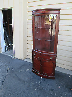 57676  MORGANTOWN Bow Glass Corner Curio China Cabinet