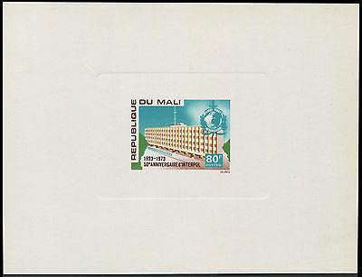 Mali #202 1973 INTERPOL imperf deluxe proof sheet POLICE