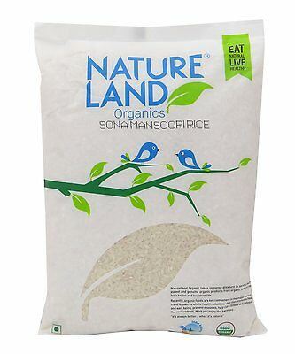 NatureLand Organics Sona Mansoori Rice 35.2 Ounce - Usda Certified