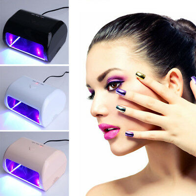 3 Colors Mini 9W Manicure Tool 3 High Power LED / UV Phototherapy Nail Gel Lamp