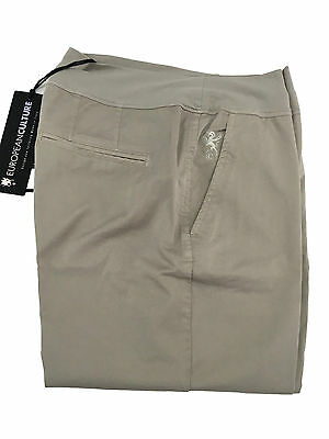EUROPEAN CULTURE women's trousers mod064U beige short ankle MADE IN ITALY