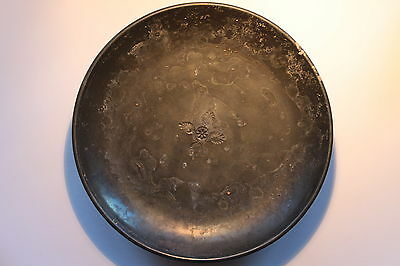ANCIENT GREEK HELLENISTIC DISH PLATE WITH CENTER MOTIF 4th CENTURY BC