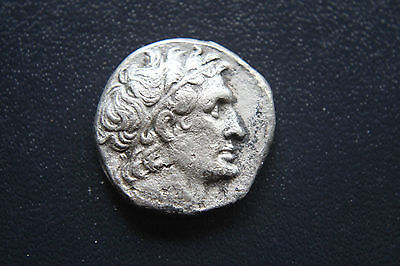 ANCIENT GREEK SILVER PTOLEMY X11 TETRADRACHM 1st CENTURY BC