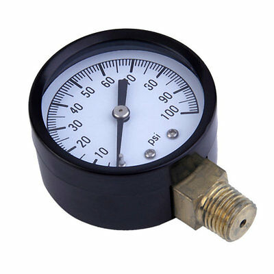 Simmons 1305 0-100 PSI 1 4inch Well Pump Water Pressure Gauge TS50-100PSI RD