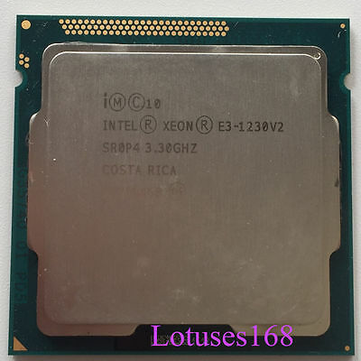 Intel Xeon E3-1230V2 3.3GHz Quad-Core 8M Processor LGA1155 H2 Non-GPU CPU 69W