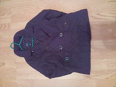 Lovely Fitted Stylish Padded Luxury  Girls Black Coat/jacket From Gap  Uk 8-9Yrs