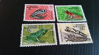 Papua New Guinea  1968 Sg 129-132 Fauna Conservation.frogs. .mnh