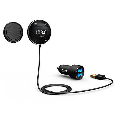 Lumsing Bluetooth Hands Free Car Kit with LCD Screen FM Transmitter for iPhone