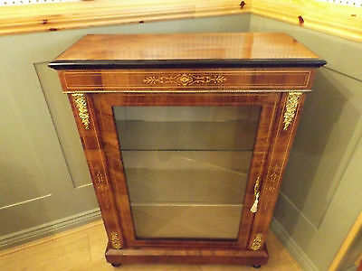 Victorian Burr Walnut Display Pier Cabinet 1870/1880