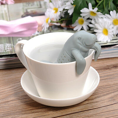 Silicone Manatee Tea Infuser Tea Leaf Strainer Diffuser Herbal Filter New