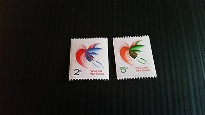 Papua New Guinea  1969 Sg  162A-163 Coil Stamps. Mnh