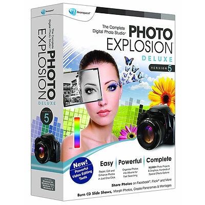 Avanquest Photo Explosion 5.0 Deluxe Image Software for Pc New Sealed