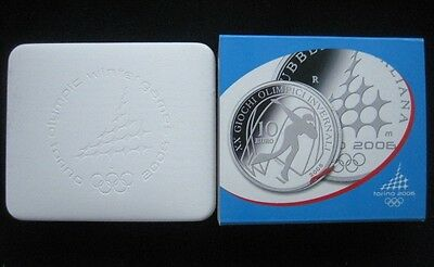 "Mds Italien 5 + 10 Euro 2005 Pp / Proof ""olympia Torino 2006"", Silber"