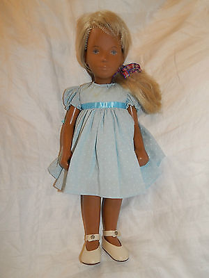 Vintage 1970's Sasha Doll ~16 Inches~ Two-Tone Blonde Hair ~ Dark Skin Tone
