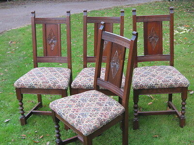 Set of Four Old Charm Dining Chairs