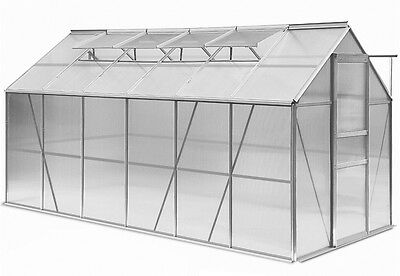 Garden Aluminium Greenhouse Outdoor Large Stable Robust Structure Polycarbonate