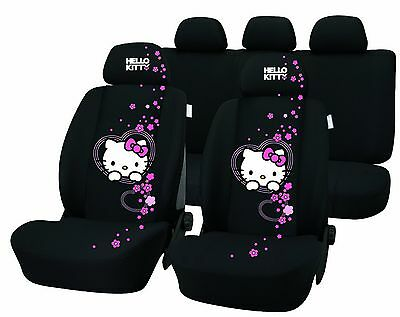 Hello Kitty New Universal Seat 100% Polyester [Seat Cover Sets] [Car] {NEW} UXX