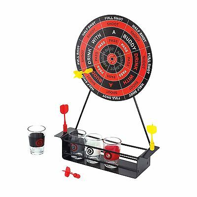 Mini Magnetic Dart Board Adult Drinking Game Set Bulls-eye Party Shot Glasses
